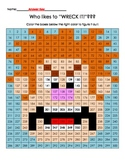 Wreck It Ralph Color by Number 300 Hundreds Chart