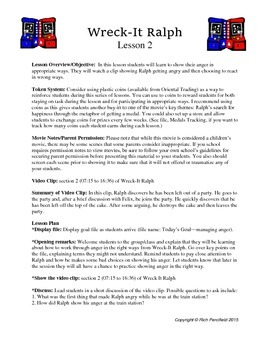 Wreck It Ralph Lessons 1-14