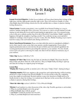 Wreck It Ralph Lessons 1-3