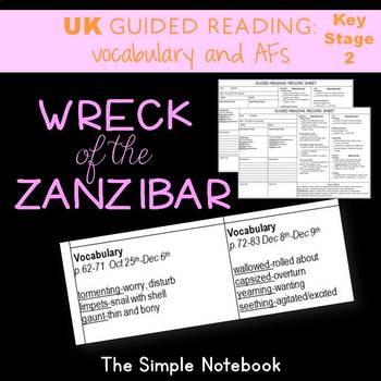 Wreck of the Zanzibar: Vocabulary