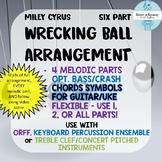 Wrecking Ball Pop Music Orff Arangement - Percussion Ensem