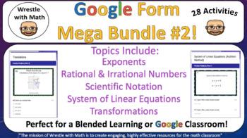 Wrestle with Math Google Form Mega Bundle #2 – Perfect for Google Classroom