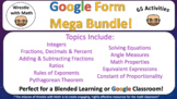 Wrestle with Math Google Form Mega Bundle – Perfect for Google Classroom