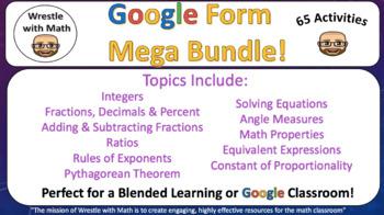 Wrestle with Math Google Form Mega Bundle – Perfect for Google Classroom