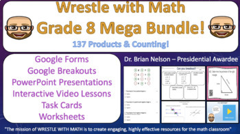 Wrestle with Math Mega 8th Grade Bundle –  137 Products and Growing!