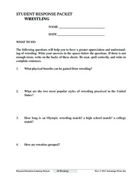 Wrestling: An Academic Learning Packet