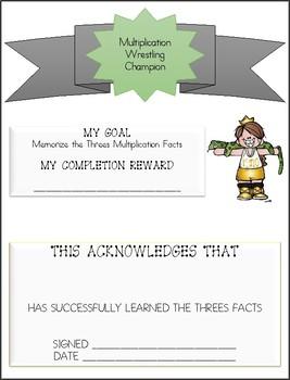 Wrestling Theme Multiplication Fact Packet