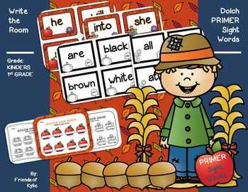 Write the Room: Dolch PRIMER Sight Words