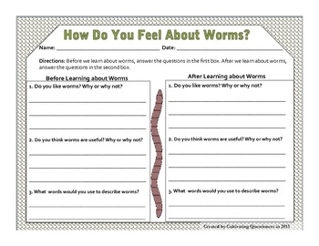 Wriggly Worms!: Writing, Measuring, and Learning about Worms