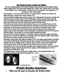 Wright Brothers Biography and 6 questions