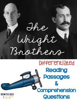 Wright Brothers Differentiated Reading Passages