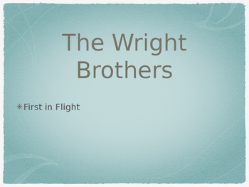 Wright Brothers Interactive Power Point