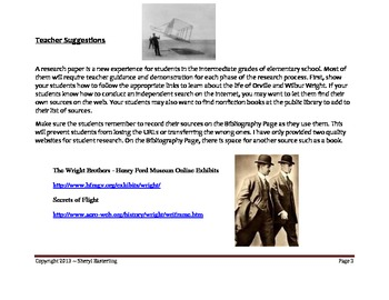 Wright Brothers Invention of Airplane Research Project