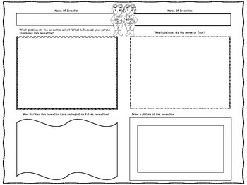Wright Brothers (Inventor Graphic Organizers