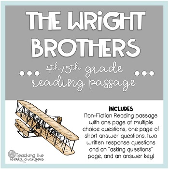 Wright Brothers Reading Passage