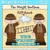 Wright Brothers US History Color Clip Art  C. Seslar plane