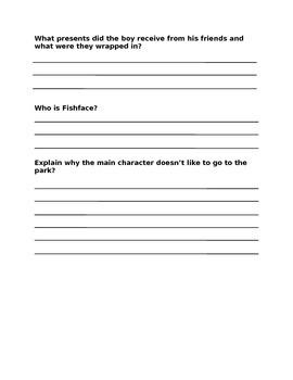 Wringer Comprehension Questions