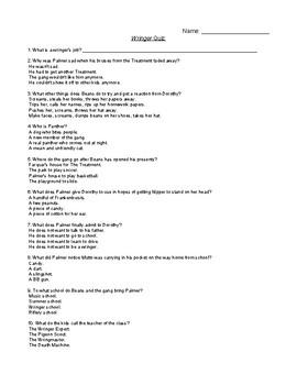 Wringer Comprehension Quiz