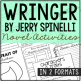 Wringer by Jerry Spinelli Novel Study Unit Activities, In