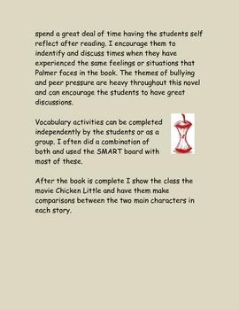 Wringer Literature Guide Novel Study