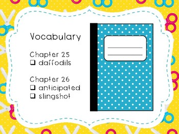 Wringer Novel Study - Chapters 25 and 26