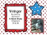 Wringer Novel Study - Chapters 33 and 34