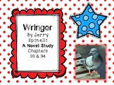 Wringer Novel Study - Chapters 33 and 34