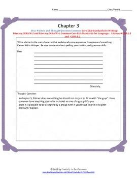 Wringer Novel Unit Plus Grammar