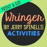 Wringer Novel Unit Study Activities, Book Companion Worksh