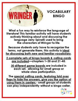 Wringer Vocabulary Bingo