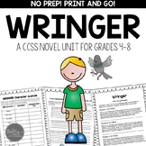 Wringer by Jerry Spinelli CCSS Novel Study Unit for Grades 4-8