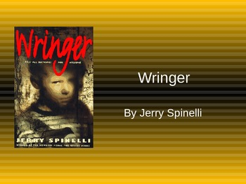 Wringer by Jerry Spinelli Journal Topics.