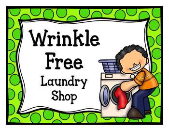 Wrinkle Free Laundry Shop (Dramatic Play)