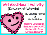 Wrinkled Heart Activity {Power of Words}