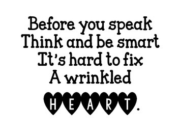 Wrinkled Heart Printable