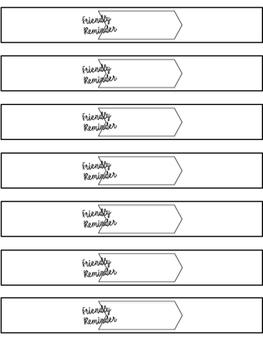 Wristband Notes FREEBIE {Reminder Notes}