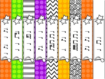 Wristbands for Rhythm Practice and Review in the Music Classroom