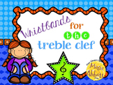 Wristbands for Treble Clef Practice and Review in the Musi