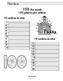 Write 100 Words for 100 Days of School (In Spanish)