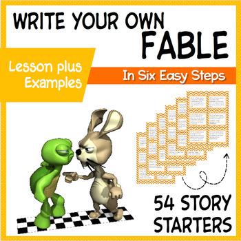 Fables Writing Unit 54 ELA Creative Writing Prompts Task Cards