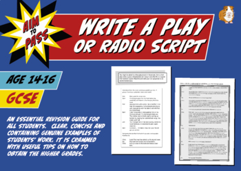 Write A Play Or Radio Script For GCSE English (14-16 years)