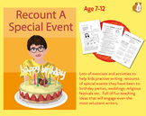 Write A Recount Of  A Special Event (7-11 years)