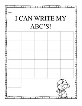 Write ABC's - Cute Baseball Theme
