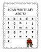 Write ABC's - School Monkey Themed