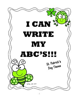 Write ABC's - St. Patrick's Day Themed - Super Cute