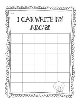 Write ABC's - Valentine Themed