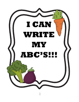 Write ABC's - Vegetable Themed