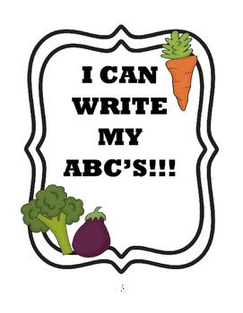 Write ABC's - Vegetable Themed