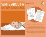 Write About A Day Off School Sick (7-11 years)