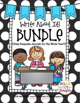 Write About It! Bundle {Monthly Keepsake Journals for the Whole Year!}